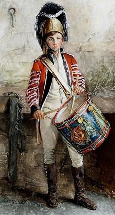 An English Drummer Boy - Counted cross stitch pattern in PDF format by Maxispatterns on Etsy