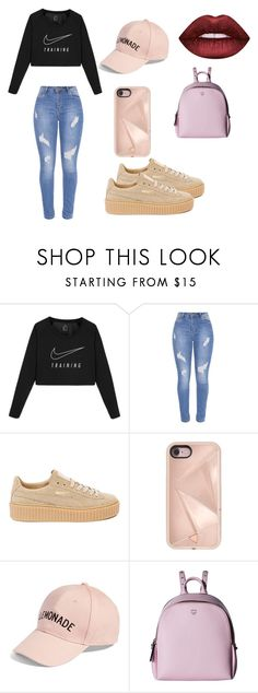 """Untitled #151"" by queenniyniy on Polyvore featuring NIKE, Puma, Rebecca Minkoff, Amici Accessories, MCM and Lime Crime"