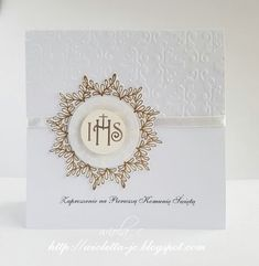 Embossed Business Cards, First Communion, Holi, Diy And Crafts, Christian, Invitations, First Holy Communion, Letterpress Business Cards, Christians