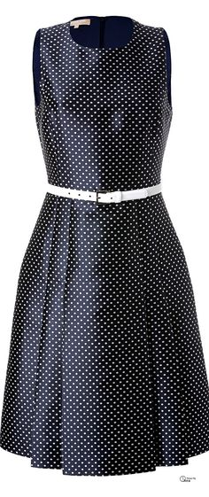 Michael Kors ● Polka Dot Cocktail Dress