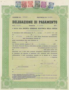 DELEGAZIONE DI PAGAMENTO COMUNE DI GODRANO - #scripomarket #scriposigns #scripofilia #scripophily #finanza #finance #collezionismo #collectibles #arte #art #scripoart #scripoarte #borsa #stock #azioni #bonds #obbligazioni