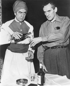 Bela Lugosi and Ian Keith - No Traveler Returns (1945)
