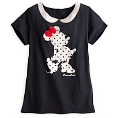 Minnie Mouse Peter Pan Collar Tee for Women!!!Looooooveeee ittt!!!!! :D
