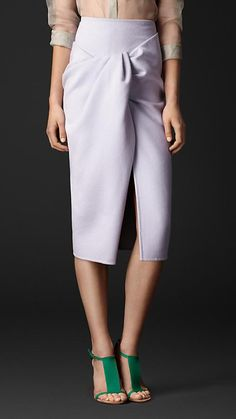 Burberry Prorsum Twist Front Pencil Skirt