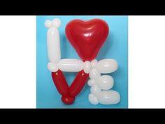 Ребус, слово Love из шаров / Love word of balloons - YouTube