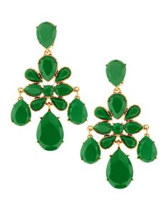 THE LIFE OF THE PARTY - Oscar de la Renta chandelier earrings.