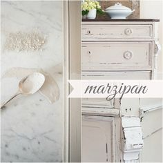 Colors | Miss Mustard Seeds Milk Paint ... It's an off-white with beige and warm gray undertones. It pairs beautifully with Ironstone for a subtle contrast. ~~~~~~~~~~~~~~~~~~~~~~~~~~ {Part of the Eurocolors Collection ~ Available on a limited basis outside of Europe. Please call your local retailer to make sure they carry Marzipan.)