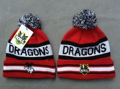 NRL Knit Hats 023 DRAGONS Beanies Hats 8106! Only $7.90USD