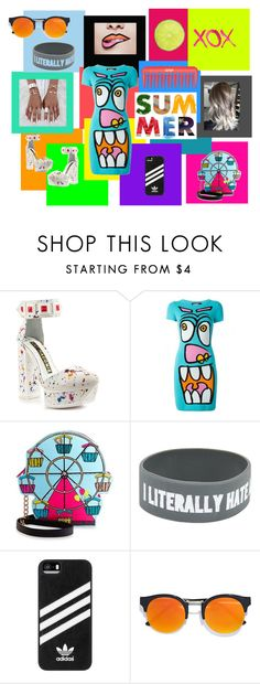 """""""CRAZY LOOK !!!"""" by marikiki1 on Polyvore featuring moda, Kat Maconie, Jeremy Scott, Betsey Johnson, GALA, adidas, LULUS, outfit, casualoutfit y colorful"""
