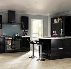 Moben Silk Matt Anthracite Kitchen With Alumium Handle  Kitchens Fair Moben Kitchen Designs Inspiration