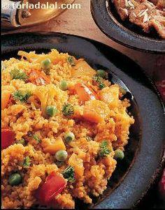 Bulgar wheat khichdi - yummy!