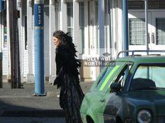 SHOOT: ONCE UPON A TIME's Black Fairy (Jaime Murray) Versus Regina (Lana Parrilla) in Storybrooke Aka Steveston  By Susan Gittins February 21, 2017