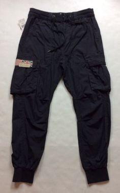 Denim-Supply-Ralph-Lauren-Men-Military-Army-US-UK-Flag-Poplin-Jogger-Cargo-Pants