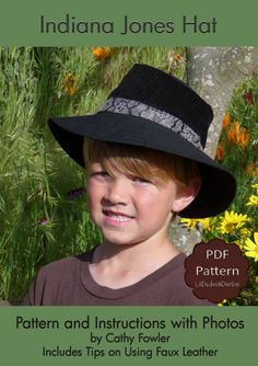 Boys Hat PDF Pattern and Tutorial Indiana by LilDudesAndDarlins, $6.75