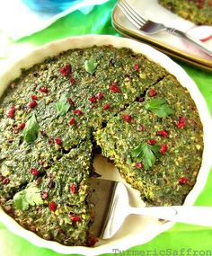 کوکوسبزی Kookoo sabzi is another vegetable dish served during the Persian New Year (Nowruz) celebration. It's also a great one meal v...
