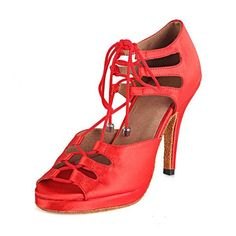Latin Dance Shoes, Ballroom Dance Shoes, Salsa Party, Professional Women, Black And Brown, Red Black, Pu Leather, Open Toe, Platform
