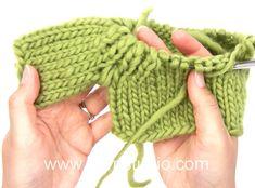 DROPS Knitting Tutorial: How to work raglan with rib