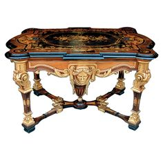 Victorian American Renaissance Revival Herter Brothers Table - American (From The Frederick William Vanderbilt Estate In Hyde Park, New York. Fredrick Was The Grandson Of Commodore Vanderbilt, Founder Of New York Central Railroad) - Antiquarian Traders Beautiful Furniture, Gothic Furniture, Victorian, Victorian Furniture, Furniture Styles, Furniture Maker, House Warming Gifts, Furniture Inspiration, Renaissance Furniture