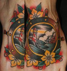 Sinking Ship Tattoo by Ben Rorke