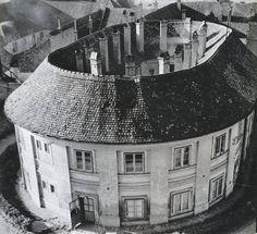 Selyemgombolyító és Selyemfonó Filatórium 1970 körül, Miklós tér 1
