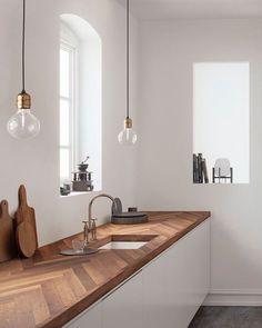 Trendy kitchen white decor ideas tips 67 Ideas Home Decor Kitchen, Interior Design Kitchen, Kitchen Furniture, Diy Kitchen, Kitchen Ideas, Kitchen Wood, Awesome Kitchen, Kitchen Small, Kitchen Trends