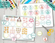 Pre-K Number Game Print Cut and Play Farm Animals Counting Game, Preschool Math Toddlers Game, Early Math Homeschool Games Printable Digital Farm Activities, Number Activities, Number Games, Preschool Printables, Preschool Math, Kindergarten, Playing With Numbers, Middle Childhood, Counting Games