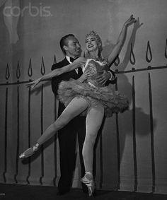 "Margot Fonteyn & George Balanchine at Covent Garden, 1950.....Balanchine said of Fonteyn ""Hands like spoons, can't dance a step."""
