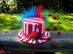 Circus Mini Top Hat Costume Birthday Halloween Clown. $22.00, via Etsy.