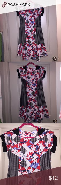 Peter Pilotto for Target mixed print dress NWOT Peter Pilotto mixed print A-line dress with elastic waist and zipper in the back. Great contemporary dress with an edge. NWOT (can easily fit size 8 or 10--runs small) Peter Pilotto for Target Dresses Midi