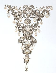 Diamond and pearl stomacher