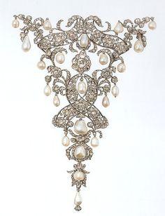 Diamond and pearl stomacher