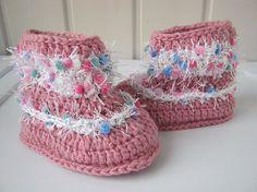 Baby booties crochet baby Boots Crochet baby by NataliaHandmede