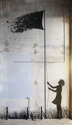 El creativo arte callejero de Pejac