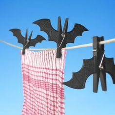 Spooky Bat Clothespins
