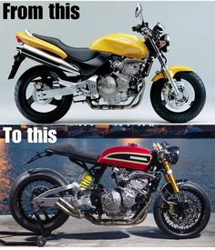 Custom bikes, tattoos, bike news and biker babes Cafe Racer Honda, Cb 750 Cafe Racer, Cafe Racer Build, Honda Hornet 600, Cb 600 Hornet, Best Motorbike, Cafe Racer Motorcycle, Motorcycle Girls, Cbx 250
