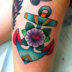 Pretty anchor (at The Dolorosa Tattoo Co.)