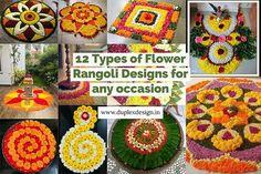 12 Types of Flower Rangoli Designs for different areas Easy Rangoli Designs Diwali, Rangoli Simple, Rangoli Designs Flower, Rangoli Patterns, Colorful Rangoli Designs, Diwali Rangoli, Wedding Entrance, Entrance Decor, Flower Rangoli Images