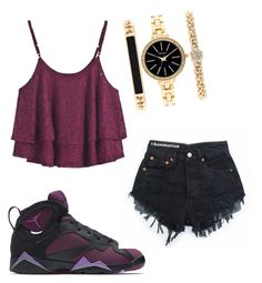 """"""""""" by lovinherjayys on Polyvore featuring NIKE, Style & Co., women's clothing, women's fashion, women, female, woman, misses and juniors"""