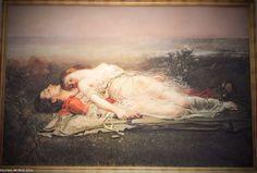 """Rogelio de Egusquiza. """"Tristán e Isolda"""" (La muerte) 1910. Estilos: Romanticismo, Realismo, Impresionismo.  Rogelio de Egusquiza """"Tristan and Isolde"""" (Death) 1910 Romanticism, Realism and Impresionism styles"""