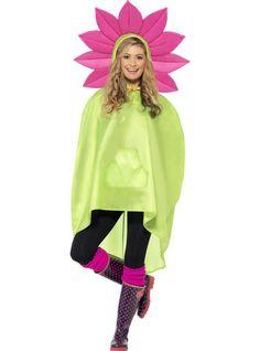 Poncho chubasquero Flower para hombre y para mujer