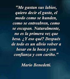 Besos de Mario Benedetti