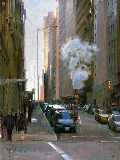 Letting Off Steam by Jennifer McChristian Oil ~ 16 x 12