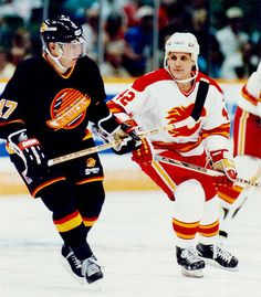Krutov Makarov--two of the finest NHL jersey designs ever. Canucks skate on a plate logo very underrated.