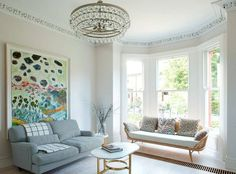 The beautifully proportioned front reception room