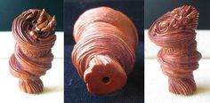 HAND Carved BOXWOOD DRAGON Whirlwind Bead 4128CO - Premium Bead