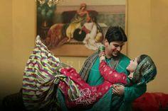 Pakistani mehndi bride and groom