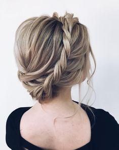 milk braid updo bride hairstyle,Textured updo hairstyle,bridal updo, messy updo hairstyles #bridehair #hairstyels #weddinghair #weddinghairstyles #updos