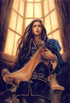 """Young Fëanor. """"In his youth, bettering the work of Rúmil,he devised those letters which bear his name, and which the Eldar used ever after""""<<<So he's like, what, 40 here? He would look like a 16-year-old human (that's my guesstimate)."""