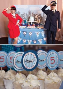Airplane Themed Dessert Table