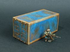 CONTAINER. Wargames terrain scenery  for  15-28mm. By Helsid studio.